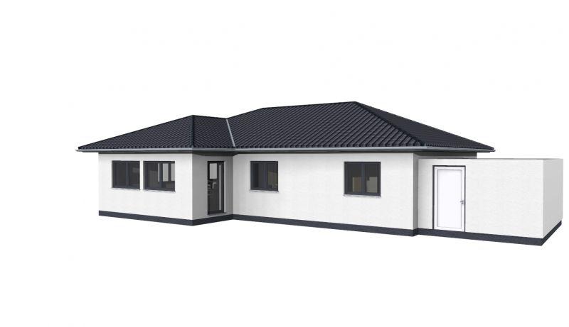 bungalow 115 4 zimmer garage haus grundriss. Black Bedroom Furniture Sets. Home Design Ideas