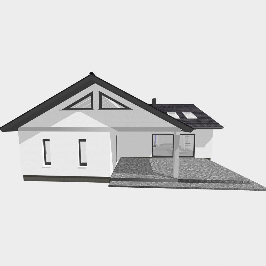 Winkelbungalow Gross 130qm Satteldach Haus Grundriss