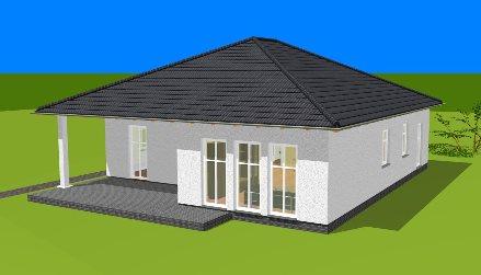 Winkelbungalow sch nwalde bungalow grundriss haus for Rechteckiges haus