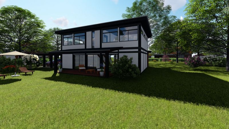 Modernes fachwerkhaus meets bauhaus haus grundriss for Grundriss einfamilienhaus 2 vollgeschosse