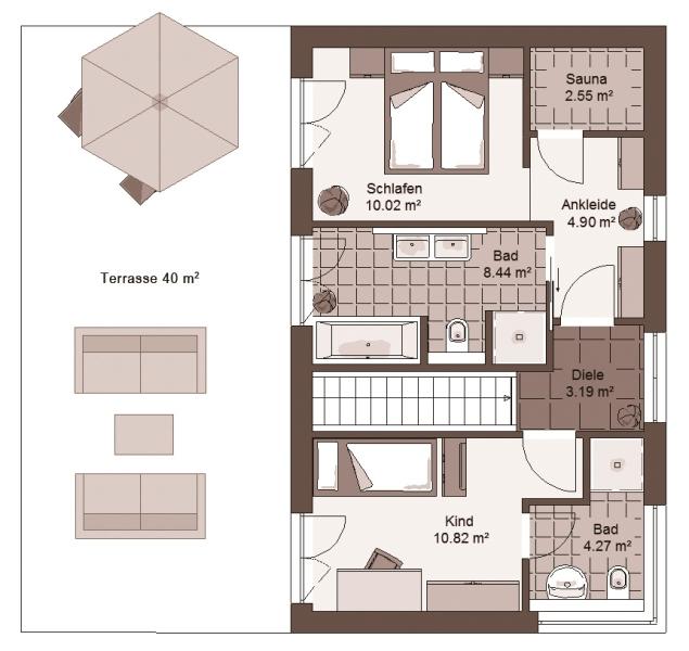 Stadtvilla GENO LivingStar 19 - Haus Grundriss