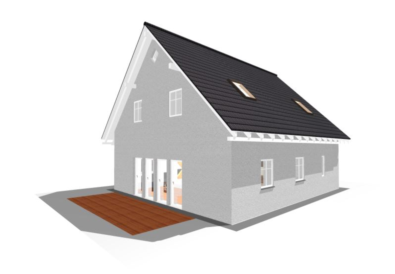 einfamilienhaus hamburg haus mit 127qm wohnfl che haus grundriss. Black Bedroom Furniture Sets. Home Design Ideas