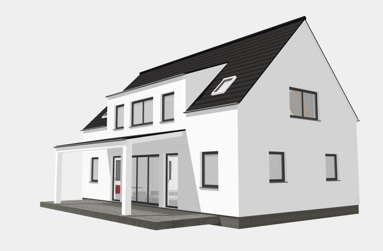 stadtvilla familienhaus 162qm 2 gauben haus grundriss. Black Bedroom Furniture Sets. Home Design Ideas