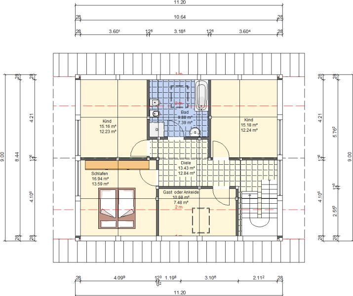 Modernes fachwerkhaus berlin 145 haus grundriss for Modernes haus 140 qm